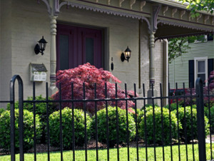 Wrought Iron Fence Offers Protection